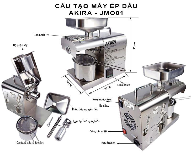 cấu-tạo-máy-ép-dầu-akira